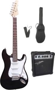 Elektromos gitár készlet erősítővel, fekete MSA Musikinstrumente