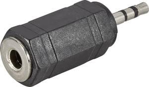 Sztereó 2,5/3,5 jack átalakító adapter, 2,5 jack dugó/3,5 jack aljzat, fekete, SpeaKa Professional 50106 SpeaKa Professional