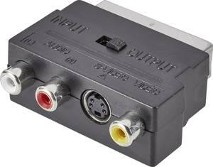 SpeaKa Professional SCART / RCA / S videó Átalakító [1x SCART dugó - 3x RCA alj, S-videó alj] Fekete Átkapcsolóval SpeaKa Professional