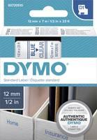DYMO feliratozószalag D1, 12mm, átlátszó/kék, S0720510 (S0720510) DYMO