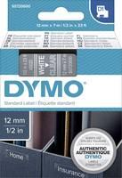 DYMO feliratozószalag D1, 12mm, átlátszó/fehér, S0720600 (S0720600) DYMO