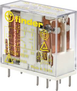 Finder 50.12.9.024.1000 Nyák relé 24 V/DC 8 A 2 váltó 50 db Tray Finder