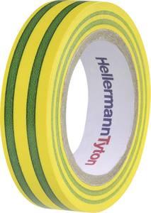 PVC szigetelőszalag, (H x Sz) 10 m x 15 mm, zöld/Sárga PVC HelaTape Flex 15 HellermannTyton, tartalom: 1 tekercs HellermannTyton