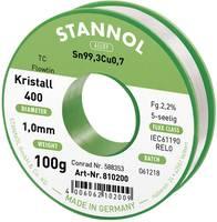 Stannol Flowtin TC Forrasztóón, ólommentes Tekercs Sn99.3Cu0.7 100 g 1.0 mm (810036) Stannol