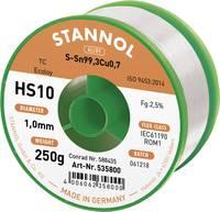 Stannol HS10 2510 Forrasztóón, ólommentes Tekercs Sn99.3Cu0.7 250 g 1.0 mm (535768) Stannol