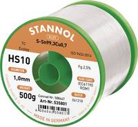 Stannol HS10 2510 Forrasztóón, ólommentes Tekercs Sn99.3Cu0.7 500 g 1.0 mm (535766) Stannol