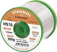 Stannol HS10 2510 Forrasztóón, ólommentes Tekercs Sn99.3Cu0.7 500 g 1.5 mm (535770) Stannol