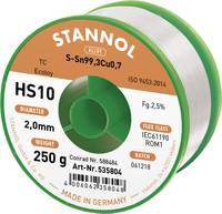 Stannol HS10 2510 Forrasztóón, ólommentes Tekercs Sn99.3Cu0.7 250 g 2.0 mm (535769) Stannol