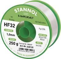 Stannol HF32 3500 Forrasztóón, ólommentes Tekercs Sn99.3Cu0.7 250 g 1.0 mm (648107) Stannol