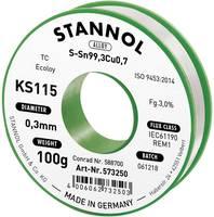 Forrasztóhuzal, ólommentes, 100 g, 0,3 mm, 3,0%, KS115 (574000) Stannol