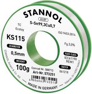 Forrasztóhuzal, ólommentes, 100 g, 0,5 mm, 3,0%, KS115 (574002) Stannol