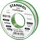 Forrasztóhuzal, ólommentes, 100 g, 0,7 mm, 3,0%, KS115 Stannol