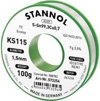 Forrasztóhuzal, ólommentes, 100 g, 1,5 mm, 3,0%, KS115 (574023) Stannol
