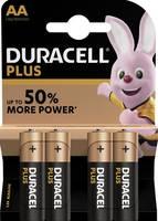 Ceruzaelem AA, alkáli mangán, 1,5V, 4 db, Duracell Plus Duracell
