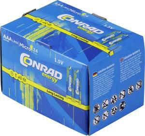 Mikroelem AAA készlet, alkáli mangán, 1,5V, 24 db, Conrad Energy  Conrad energy