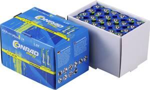 Mikroelem AAA készlet, alkáli mangán, 1,5V, 24 db, Conrad Energy LR03, AAA, LR3, AM4M8A, AM4, S (650638) Conrad energy