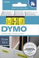 DYMO feliratozószalag D1, 12mm, sárga/fekete, S0720730 (S0720580) DYMO