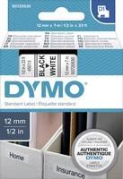 DYMO feliratozószalag D1, 12mm, fehér/fekete, S0720530 (S0720530) DYMO