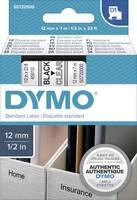 DYMO feliratozószalag D1, 12mm, átlátszó/fekete, S0720500 (S0720500) DYMO