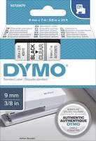 DYMO feliratozószalag D1, 9mm, átlátszó/fekete, S0720670 (S0720670) DYMO