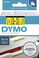 DYMO feliratozószalag D1, 19mm, sárga/fekete, S0720880 (S072880) DYMO