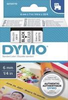 DYMO feliratozószalag D1, 6mm, átlátszó/fekete, S0720770 (S0720770) DYMO