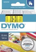 DYMO feliratozószalag D1, 6mm, sárga/fekete, S0720790 (S0720790) DYMO