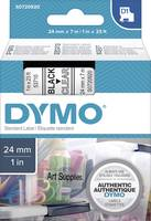 DYMO feliratozószalag D1, 24mm, átlátszó/fekete, S0720920 (S0720920) DYMO