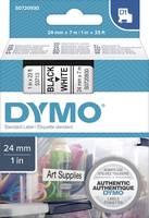 DYMO feliratozószalag D1, 24mm, fehér/fekete, S0720930 (S0720930) DYMO