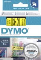 DYMO feliratozószalag D1, 24mm, sárga/fekete, S0720980 (S0720980) DYMO
