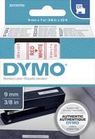DYMO feliratozószalag D1, 9mm, fehér/piros, S0720700 (S0720700) DYMO