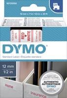 DYMO feliratozószalag D1, 12mm, fehér/piros, S0720550 (S0720550) DYMO