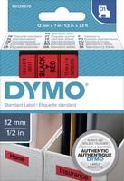 DYMO feliratozószalag D1, 12mm, piros/fekete, S0720570 (S0720570) DYMO