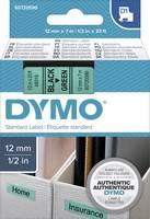 DYMO feliratozószalag D1, 12mm, zöld/fekete, S0720590 (S0720590) DYMO