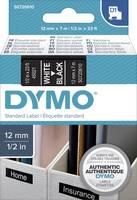 DYMO feliratozószalag D1, 12mm, fekete szalag,fehér betű S0720610 (S0720610) DYMO