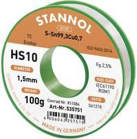 Forrasztóhuzal, ólommentes forrasztó ón Sn99,3Cu0,7 1,5mm Stannol HS10 2510 (631911) Stannol