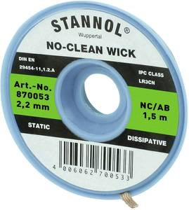 Kiforrasztó huzal 2,2 mm/1,5 m Stannol