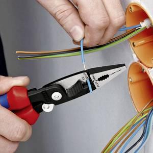 Knipex 13 81 200 Többfunkciós villanyszerelő fogó, kombinált fogó, érvéghüvely krimpelő fogó max. 50 mm²-ig Knipex