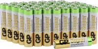 Mikroelem AAA, alkáli mangán, 1,5V, 40 db, GP Super LR03, AAA, LR3, AM4M8A, AM4, S GP Batteries