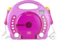 Gyermek karaoke szett, beépített CD lejátszóval, két mikrofonnal, USB-s, SD kártyás, rózsaszín, X4, Tech Bobby Joey X4 Tech