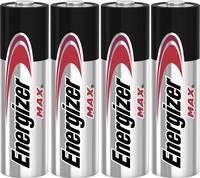 Ceruzaelem AA, alkáli mangán, 1,5V, 4 db, Energizer Max LR06, AA, LR6, AAB4E, AM3, 815, E91, LR6N Energizer