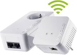 Powerline WLAN Starter Kit, konnektoros internet átvivő készlet 500 Mbit/s, Devolo dLAN 550 WiFi Devolo