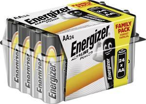 Ceruzaelem AA, alkáli mangán, 1,5V, 24 db, Energizer Power LR06, AA, LR6, AAB4E, AM3, 815, E91, LR6N Energizer