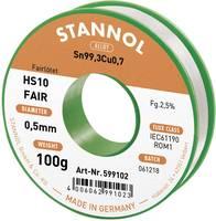 Forrasztóón Tekercs Stannol HS10-Fair Sn99.3Cu0.7 100 g 0.5 mm (599102) Stannol