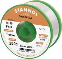 Forrasztóón Tekercs Stannol HS10-Fair Sn99.3Cu0.7 250 g 1.0 mm (599103) Stannol