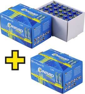 Ceruzaelem készlet, AA, LR06 1.5 V 72db-os készlet Conrad Energy 1424762 Conrad energy