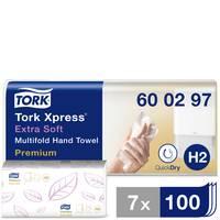 TORK 600297 Xpress Multifold Premium Papír kéztörlők (H x Sz) 34 cm x 21.2 cm Fehér 21 x 100 lap/csom. 2100 db TORK