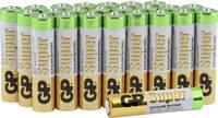 Mikroelem AAA, alkáli mangán, 1,5V, 24 db, GP Super LR03, AAA, LR3, AM4M8A, AM4, S GP Batteries
