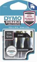 Feliratozó szalag DYMO D1 1978365 Vinyl Szalagszín: Fekete Szövegszín:Fehér 12 mm 3 m DYMO