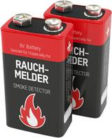 Ansmann Rauchmelderbatterie 9V-os elem Alkáli mangán 9 V 2 db Ansmann